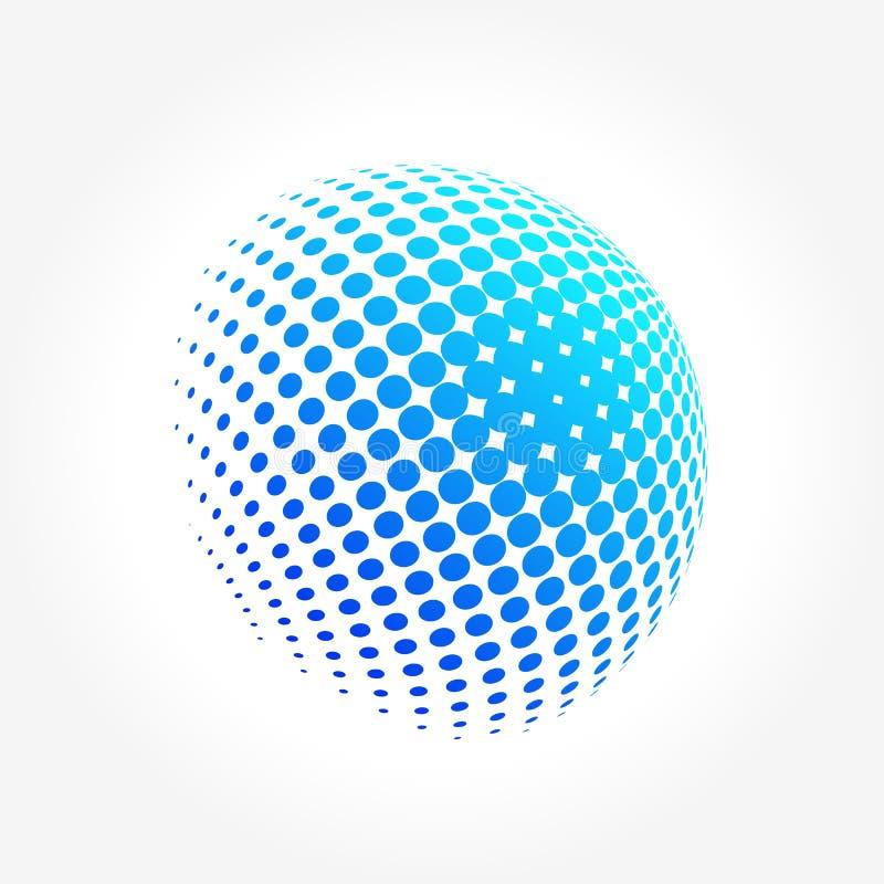 Globo abstracto, vibrante y colorido creativo de la esfera del icono stock de ilustración
