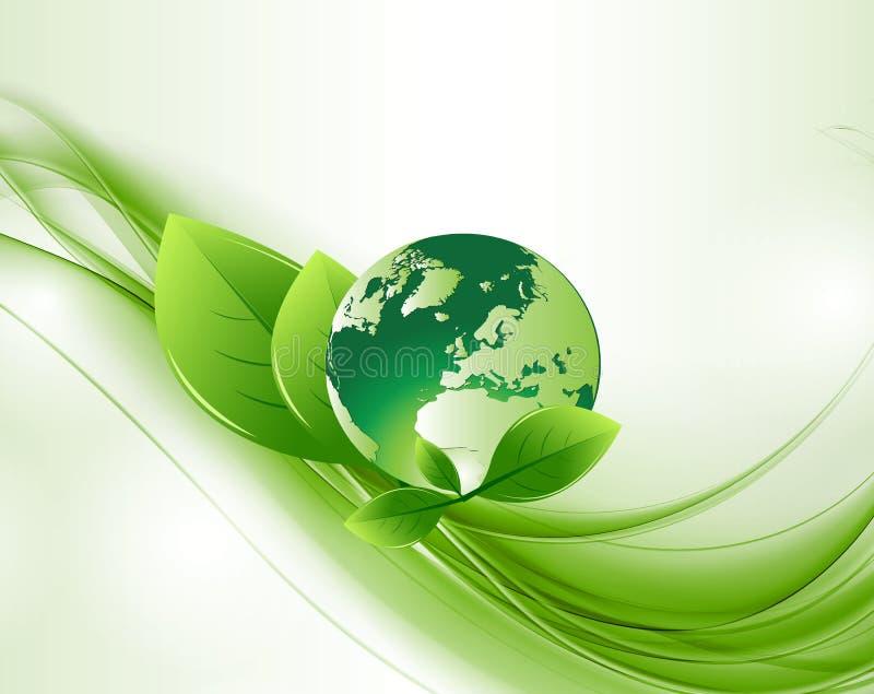 Globo abstrato verde Backround da ecologia ilustração do vetor