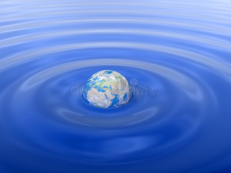 Globo in acqua (Europa) royalty illustrazione gratis