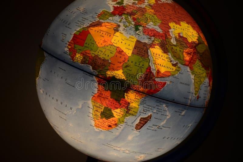 Globo Africa immagini stock