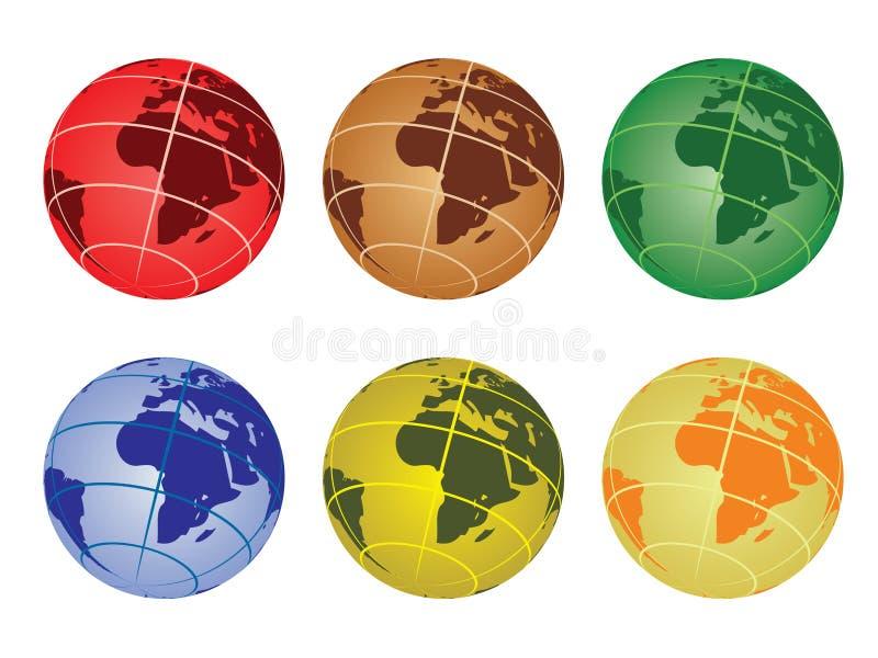 Download Globo - Africa illustrazione vettoriale. Illustrazione di terra - 21550128