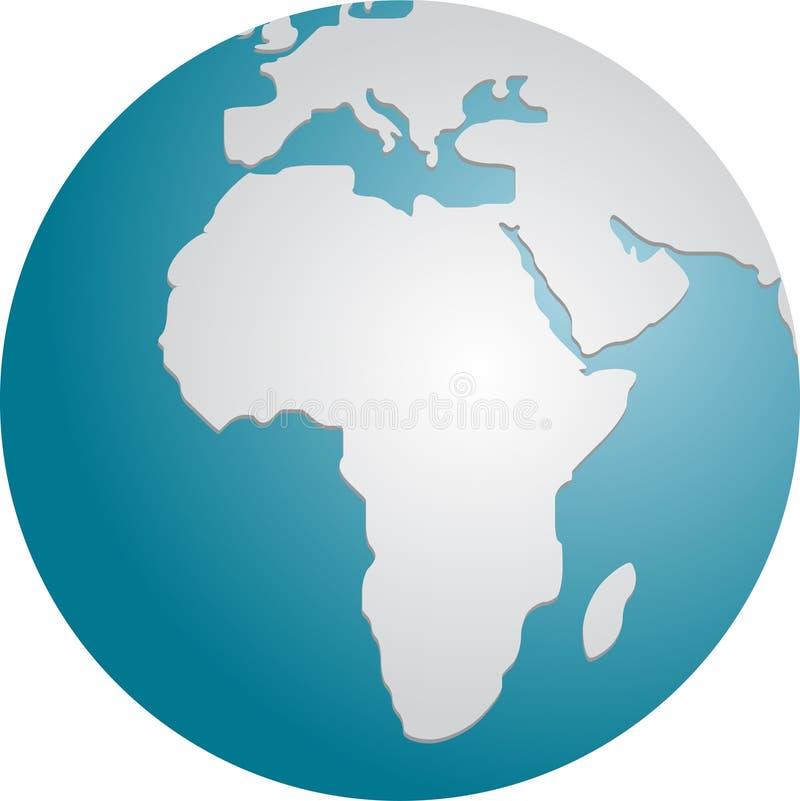 Globo Africa illustrazione vettoriale