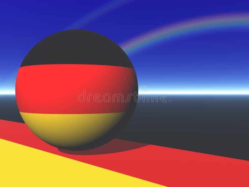 Globo alemão da bandeira ilustração royalty free