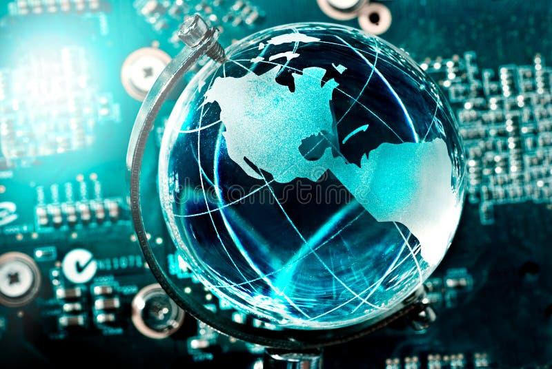 globo alta tecnologia della terra fotografia stock libera da diritti