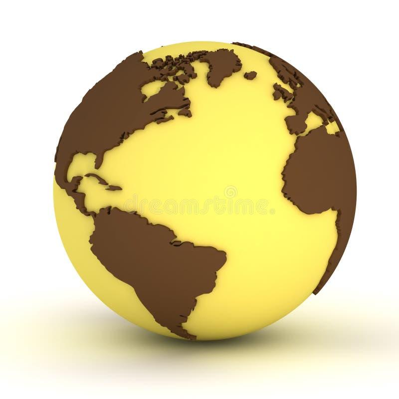 Globo amarillo ilustración del vector