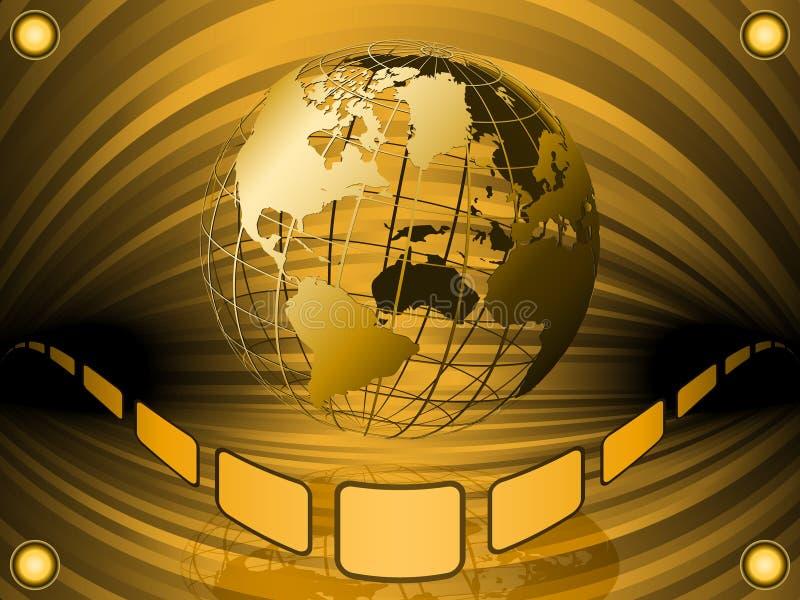 Globo atado con alambre de la tierra ilustración del vector