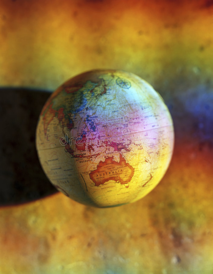 Globo Australia del mundo fotos de archivo libres de regalías