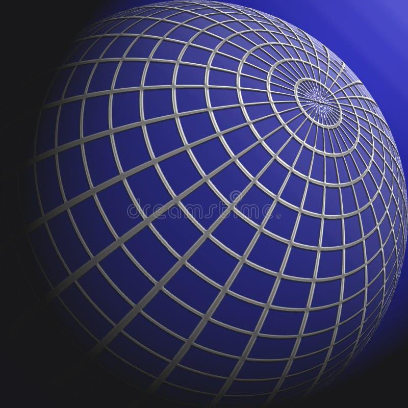 Globo azul ilustración del vector