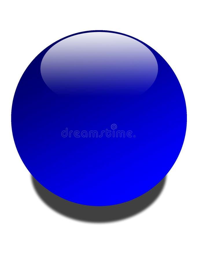 Globo azul brilhante ilustração stock
