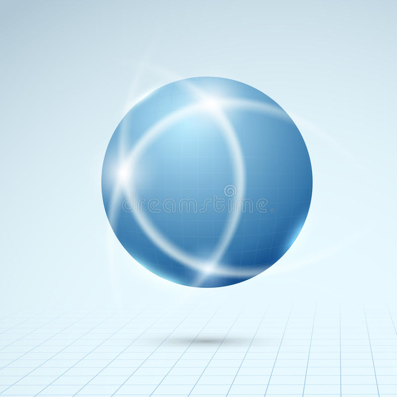 Globo azul - concepto de la conexión ilustración del vector