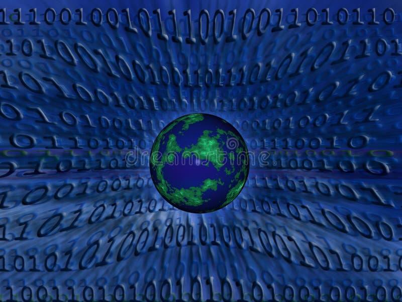 Globo binario stock de ilustración