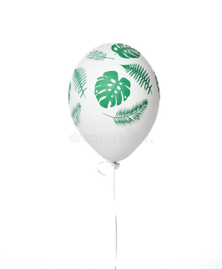 Globo blanco del látex inflable grande del helio para las decoraciones en partido corporativo de la boda del cumpleaños con las h fotos de archivo libres de regalías