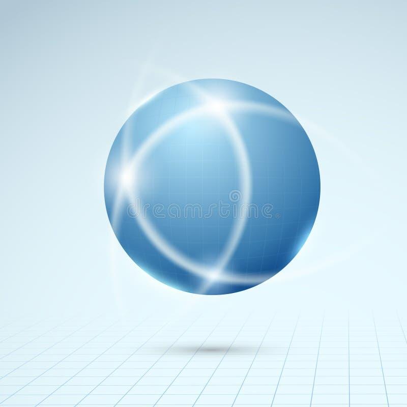 Globo blu - concetto del collegamento illustrazione vettoriale