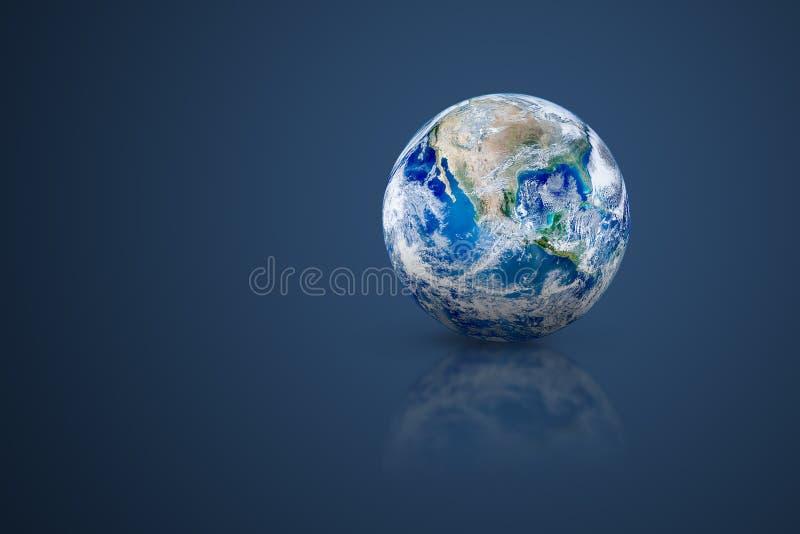 Globo blu del pianeta Terra messo sul pavimento royalty illustrazione gratis