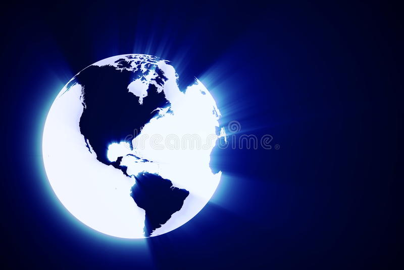 globo brilhante abstrato da terra 3d ilustração royalty free