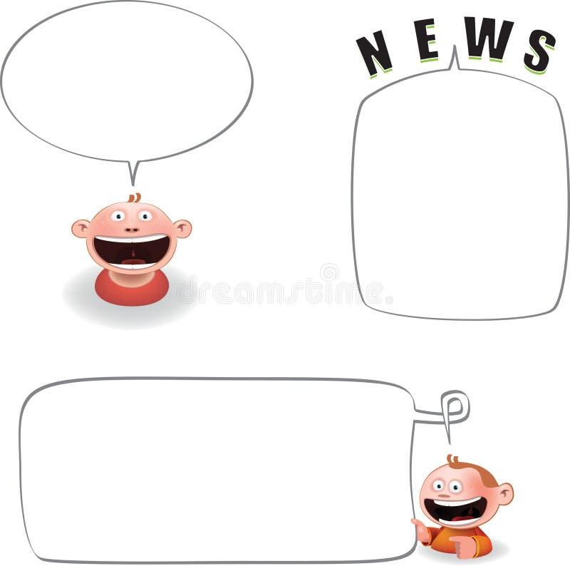 Globo cómico stock de ilustración