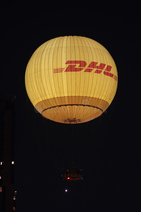 Globo caliente de DHL fotografía de archivo