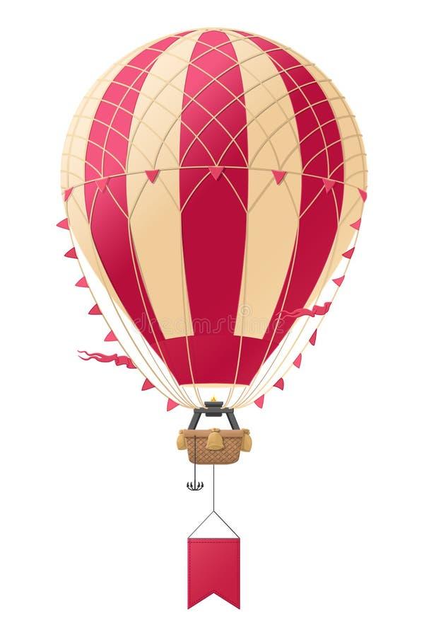 Globo caliente del aerostato del vector Modelo gr?fico retro libre illustration