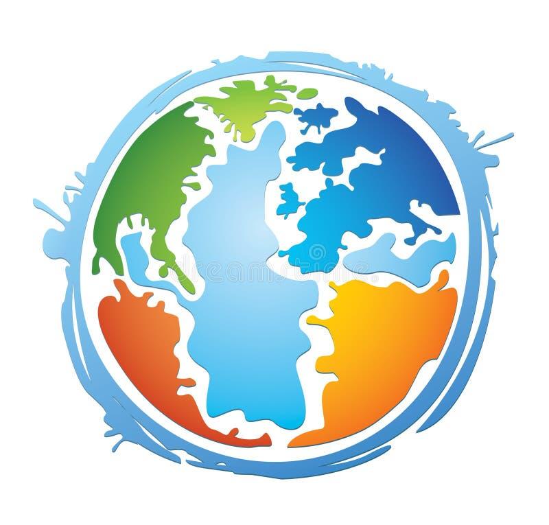 Globo colorido do mundo ilustração do vetor