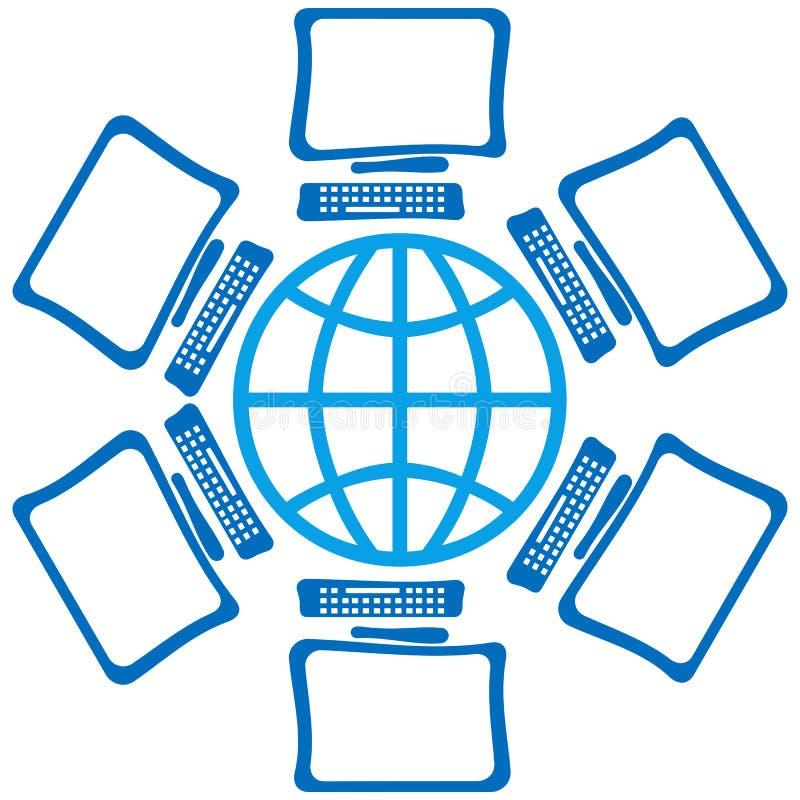 Globo com telas ilustração stock