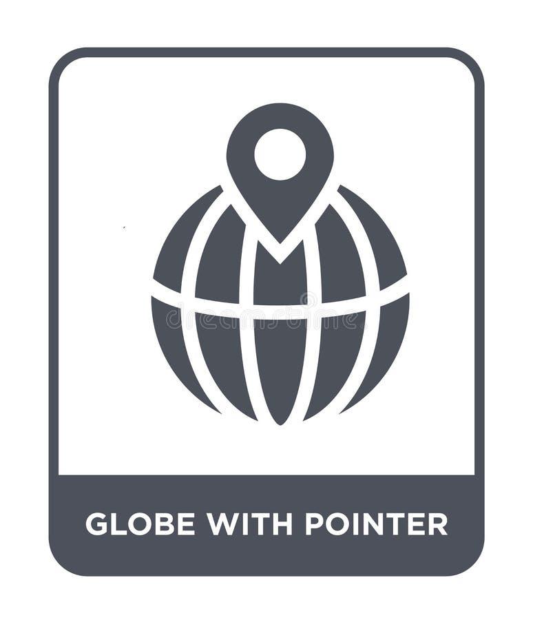 globo con el icono del indicador en estilo de moda del diseño globo con el icono del indicador aislado en el fondo blanco globo c ilustración del vector