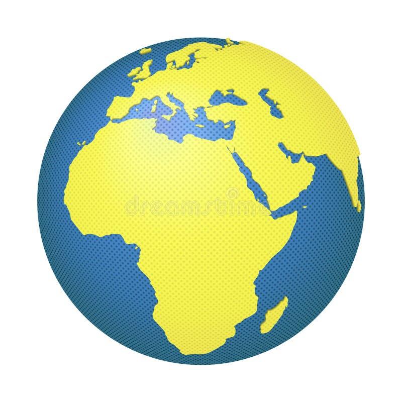 Globo con Europa y África imagenes de archivo