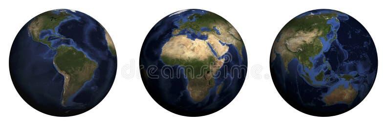 Globo con i continenti immagine stock libera da diritti