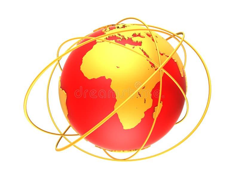 globo con los anillos stock de ilustración