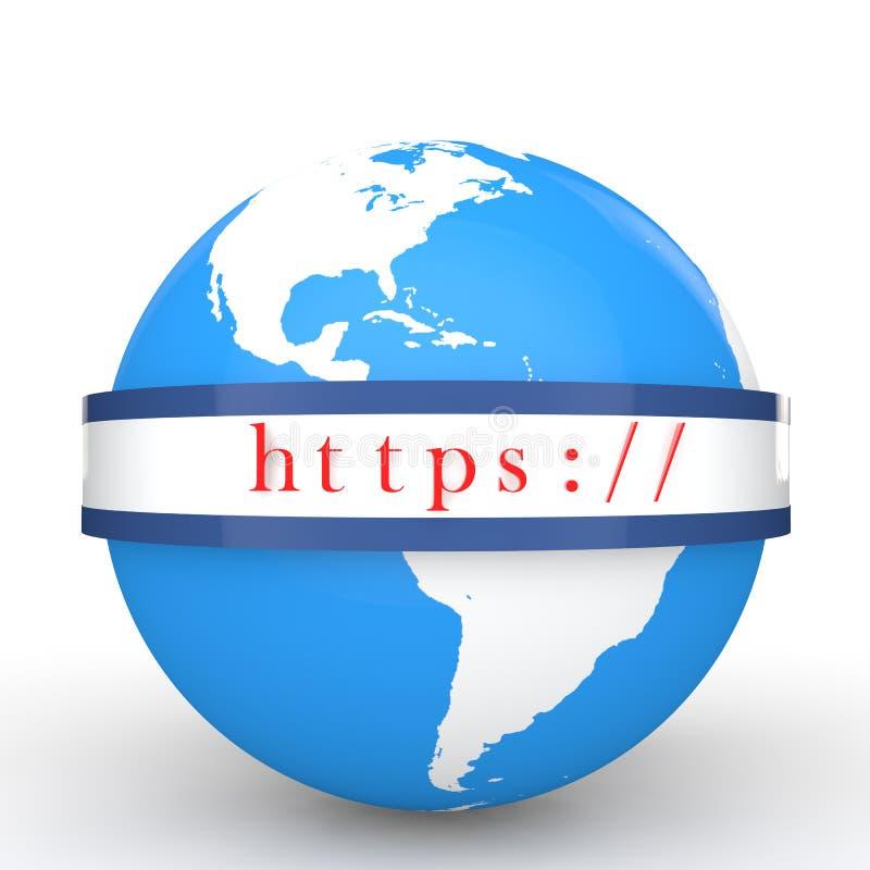 globo 3d y protocolo de comunicación seguro del web libre illustration