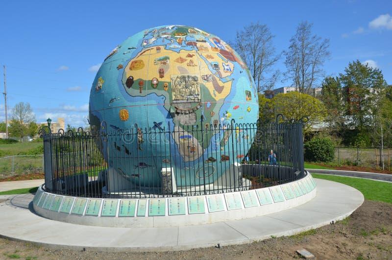 Globo da Eco-terra imagem 2 em Salem, Oregon imagem de stock royalty free