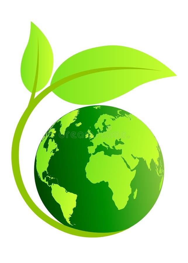 Globo da ecologia ilustração royalty free