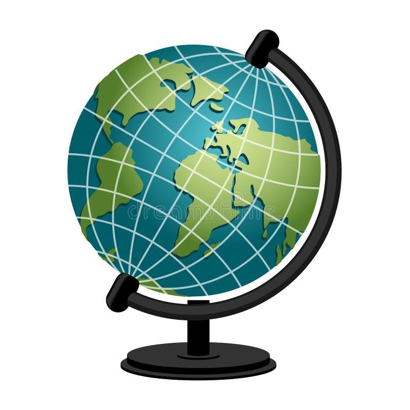 Globo da geografia da escola da terra Modelo da esfera do planeta astronômico ilustração stock
