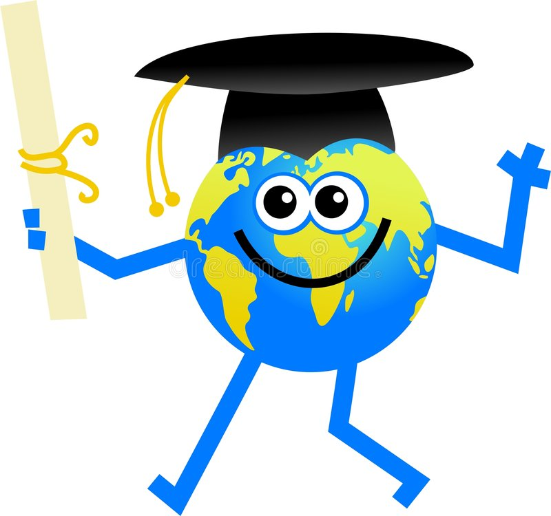 Globo da graduação ilustração stock