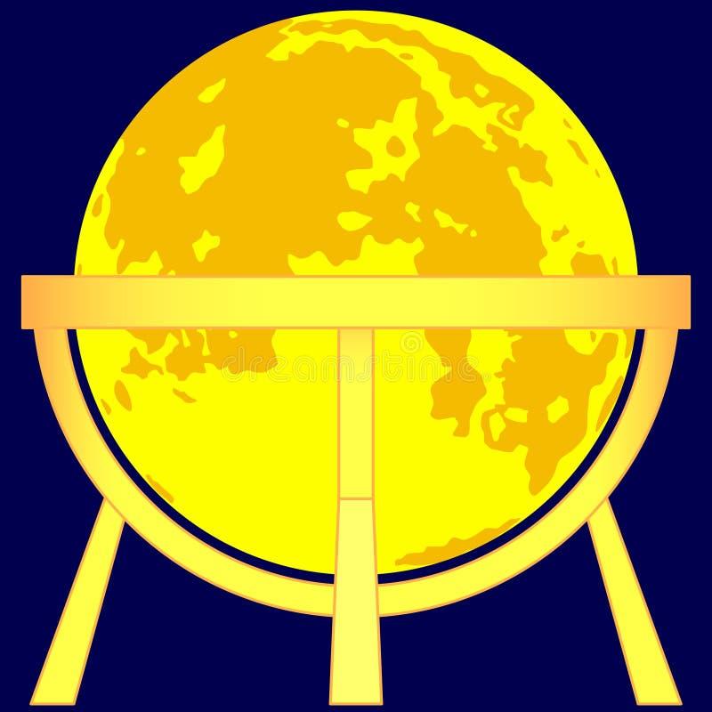 Globo da lua ilustração royalty free