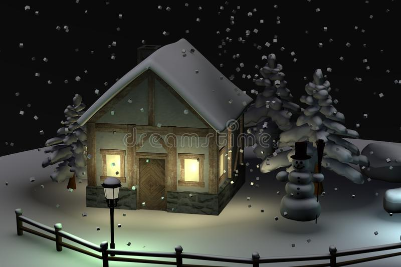Globo da neve (cena) ilustração do vetor
