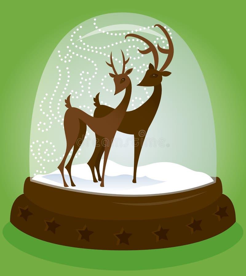 Globo da neve - cervo ilustração stock