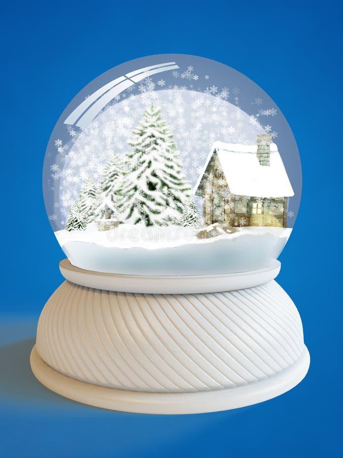 Globo da neve com trajeto de grampeamento ilustração do vetor