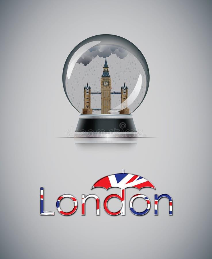 Globo da neve de Londres ilustração stock