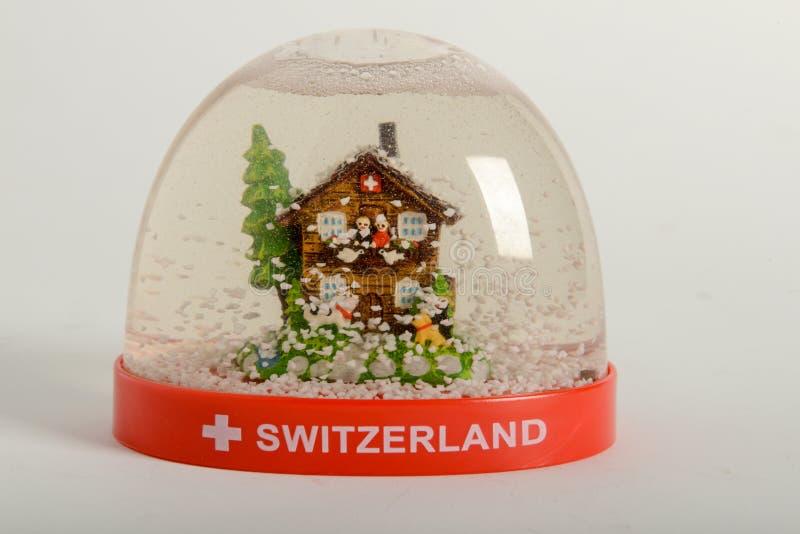 Globo da neve de Suíça foto de stock