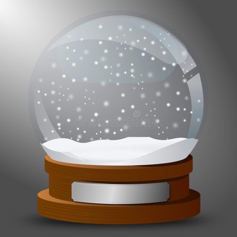 Globo da neve do cartão do inverno ilustração royalty free