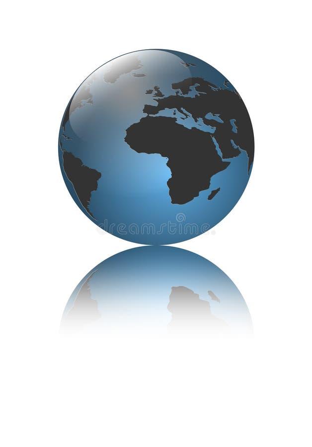 Globo da terra do logotipo ilustração royalty free