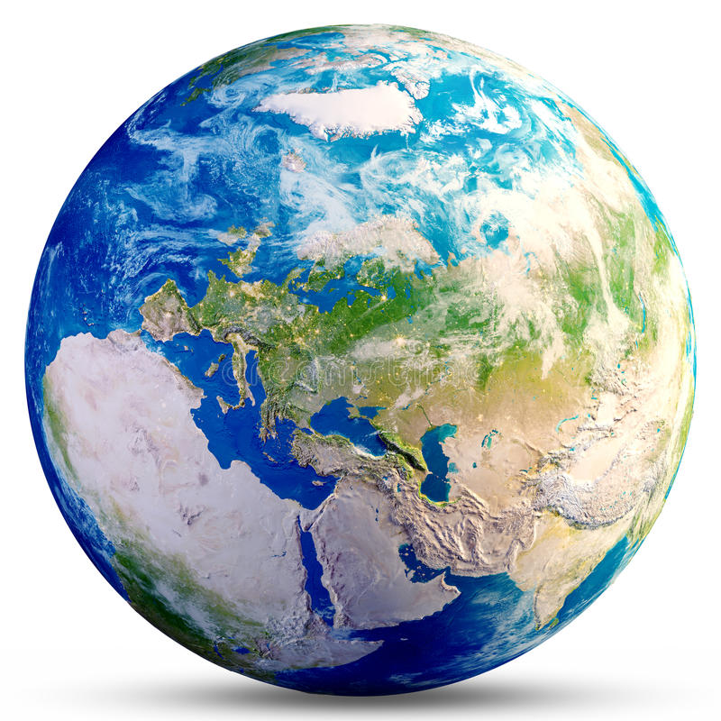Globo da terra do planeta