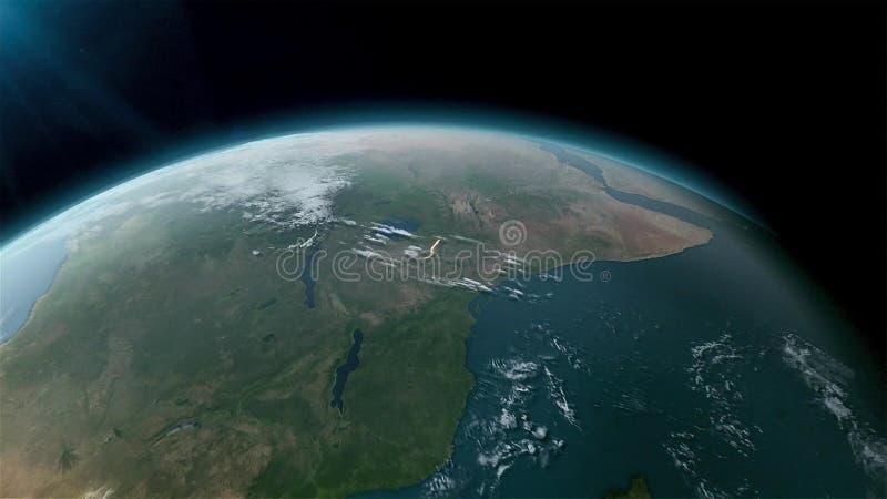 Globo da terra isolado no fundo preto Elementos desta imagem fornecidos pela NASA ilustração royalty free