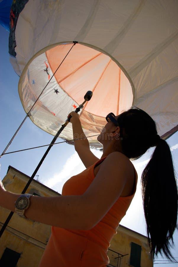 Globo de aire caliente fotografía de archivo
