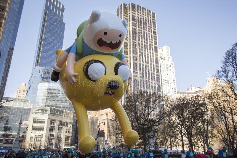 Globo de Jake y del finlandés en el desfile de Macy imagen de archivo libre de regalías