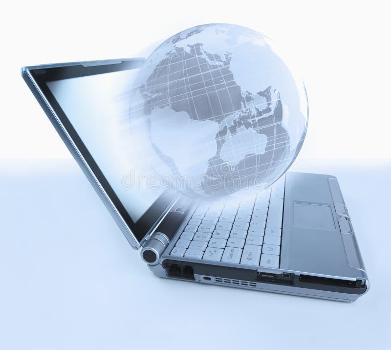 Globo de la computadora portátil imagen de archivo libre de regalías