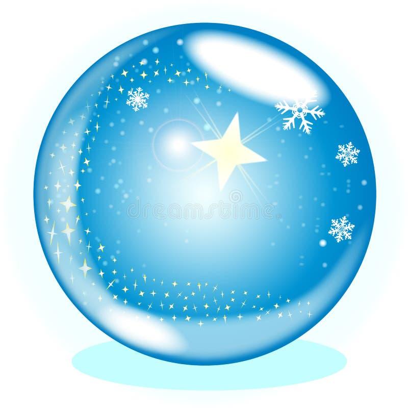 Globo de la estrella de la Navidad stock de ilustración