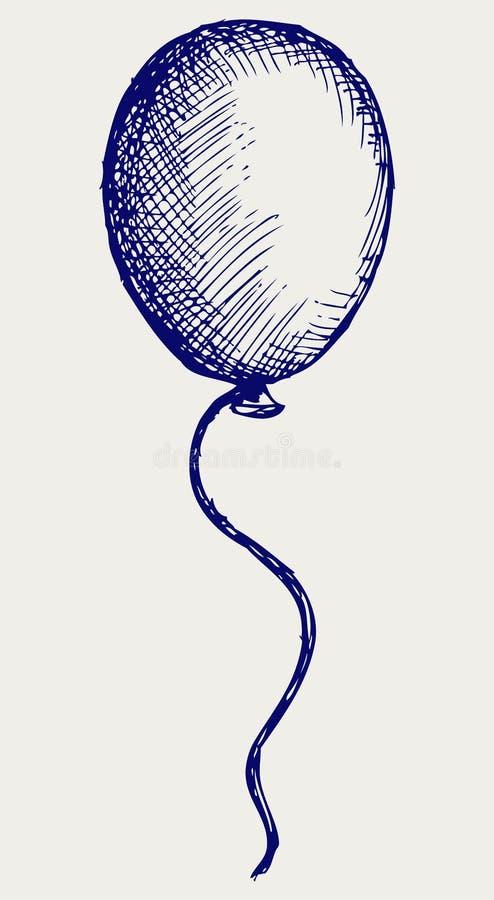 Globo de la ilustración. Estilo del Doodle libre illustration
