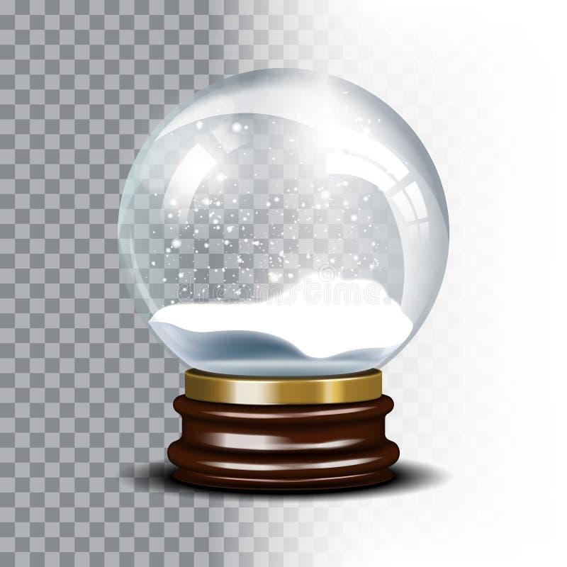 Globo de la nieve del vector de la Navidad en a cuadros stock de ilustración