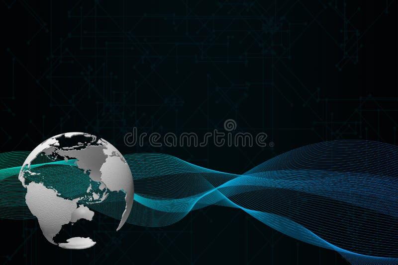 globo de la representación 3D en fondo oscuro libre illustration